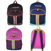 "24 Units of 17"" Sport Backpacks In 3 Assorted. Colors - Backpacks"