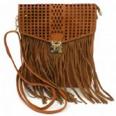 60 Units of LARGE CROSS BODY BAG (LASER CUT WITH BUCKLE AND FRINGE)