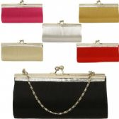 48 Units of LARGE EVENING BAGS W/STONES (SOLID ASST COLORS)