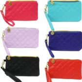 120 Units of SMALL QUILTED CLUTCH / WRISTLET (LIGHT) - Leather Purses and Handbags