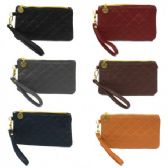 120 Units of SMALL QUILTED CLUTCH / WRISTLET (DARK) - Leather Purses and Handbags