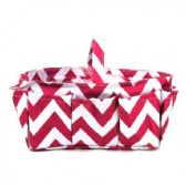 120 Units of HANDBAG / COSMETIC ORGANIZER CHEVRON FUCHSIA