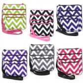 60 Units of LARGE CROSS BODY BAG CHEVRON aSSORTED