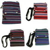120 Units of Mid Size Cross Body Bag in Assorted JUTE-DARK