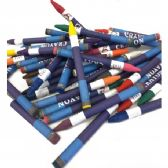 180 Units of 16 Piece Assorted Color Crayon Pack - Chalk,Chalkboards,Crayons