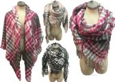 12 Units of Large Blanket Scarves Wrap Assorted Color Plain Print