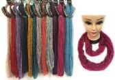 48 Units of Light Weight Infinity Scarves with Leopard and Sequins