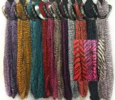 48 Units of Light Weight Infinity Circle Scarves Zebra Sequins