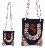 6 Units of Black Horse and Horse Shoe Design Rhinestone Sling - Shoulder Bags & Messenger Bags