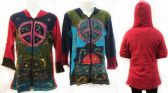 6 Units of Nepal Handmade Cotton Jackets with Hood Peace - Womens Sweaters / Cardigan
