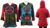 6 Units of Nepal Handmade Cotton Jackets with Hood Peace