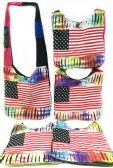 10 Units of Nepal Hobo Bags Large American Flag Assorted Colors