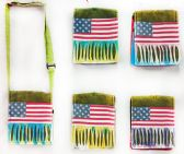 10 Units of American Flag Small Sling Bag