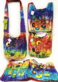 10 Units of Nepal Hobo Bags Tie Dye Color with Multiple Flowers
