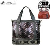 2 Units of Montana West Concho Collection Concealed Handgun Tote/Crossbody