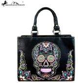 2 Units of Montana West Sugar Skull Collection Concealed Handgun Tote/Crossbody