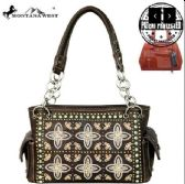 2 Units of Montana West Embroidered Collection Concealed Handgun Satchel BK