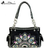 2 Units of Montana West Embroidered Collection Satchel Black