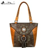 2 Units of Montana West Concho Collection Tote Coffee