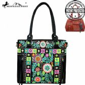 2 Units of Montana West Embroidered Collection Concealed Handgun Tote