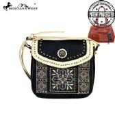 4 Units of Montana West Concho Collection Concealed Handgun Crossbody Bag Black