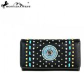 4 Units of Montana West Concho Collection Wallet/Wristlet