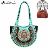 2 Units of Montana West Concho Collection Concealed Handgun Half Moon Tote