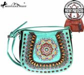 4 Units of Montana West Concho Collection Crossbody Bag Turquoise