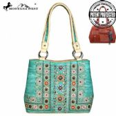 2 Units of Montana West Concho Collection Concealed Handgun Satchel Beige