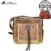 2 Units of Montana West Concho Concealed Handgun Crossbody Bag Brown