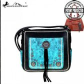 4 Units of Montana West Concho Concealed Handgun Crossbody Bag Black