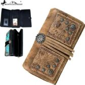 4 Units of Montana West Concho Collection Secretary Style Wallet