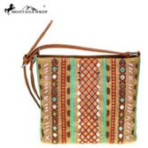 4 Units of Montana West Tribal Collection Concealed Handgun Crossbody TAN