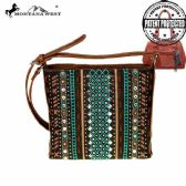 4 Units of Montana West Tribal Collection Concealed Handgun Crossbody Coffee