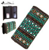 4 Units of Montana West Tribal Collection Wallet Coffee