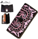 4 Units of Montana West Bling Bling Collection Wallet Coffee Pink