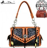2 Units of Montana West Concho Collection Concealed Handgun Satchel Purse