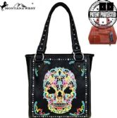 2 Units of Montana West Sugar Skull Collection Concealed Handgun Tote
