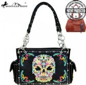 2 Units of Montana West Sugar Skull Collection Concealed Handgun Satchel