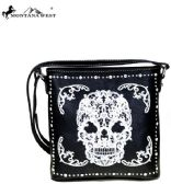 4 Units of Montana West Sugar Skull Collection Crossbody Bag Black/White