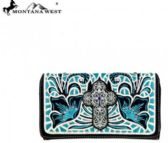 4 Units of Montana West Spiritual Collection Secretary Style Wallet