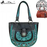 2 Units of Montana West Concho Collection Concealed Handgun Tote Black Torquoise