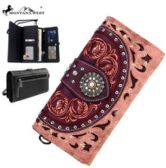 4 Units of Montana West Concho Collection Wallet Pink