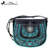 4 Units of Montana West Concho Collection Crossbody Bag Black