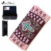 4 Units of Montana West Spiritual Collection Secretary Style Wallet Pink