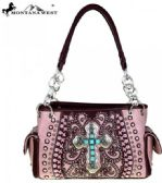 2 Units of Montana West Spiritual Collection Satchel Vintage Cross Pink