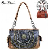 2 Units of Montana West Concho Collection Concealed Handgun Satchel Gray