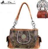 2 Units of Montana West Concho Collection Concealed Handgun Satchel Brown