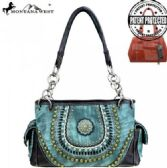 2 Units of Montana West Concho Collection Concealed Handgun Satchel Black