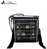 4 Units of Montana West Fringe Collection Crossbody Bag Black